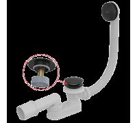 Слив-перелив Alca Plast A507BLACK CLICK/CLACK, черный-мат