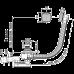Слив-перелив Alca Plast A55K NEW-100