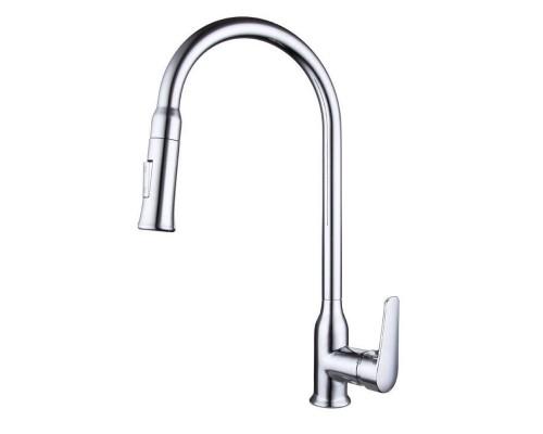 Смеситель Bravat Arden F7362395CP-ENG для кухонной мойки с вытяжным изливом