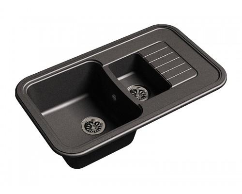 Мойка кухонная Ewigstein Antik 60 KF черный