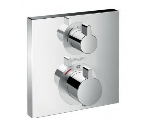 Термостат для ванны внешняя часть Hansgrohe Ecostat Square 15714000 хром