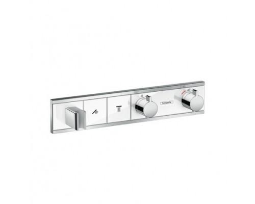 Термостат для ванны и душа с кнопками Hansgrohe RainSelect 15355400 2 потребителя белый/хром