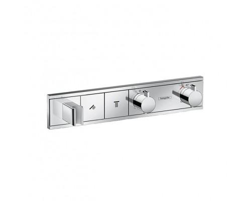 Термостат для ванны и душа с кнопками Hansgrohe RainSelect 15355000 2 потребителя