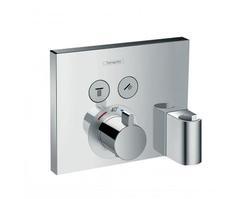 Термостат для душа с кнопками Hansgrohe ShowerSelect 15765000 2 потребителя