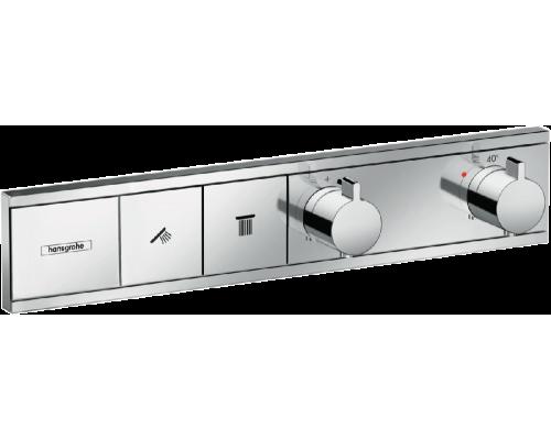Термостат для душа с кнопками Hansgrohe RainSelect 15380000 2 потребителя хром