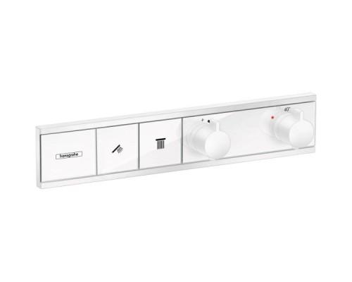 Термостат для душа с кнопками Hansgrohe RainSelect 15380700 2 потребителя белый