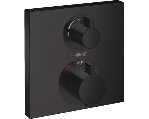 Термостат для ванны внешняя часть Hansgrohe Ecostat Square 15714670 черный матовый