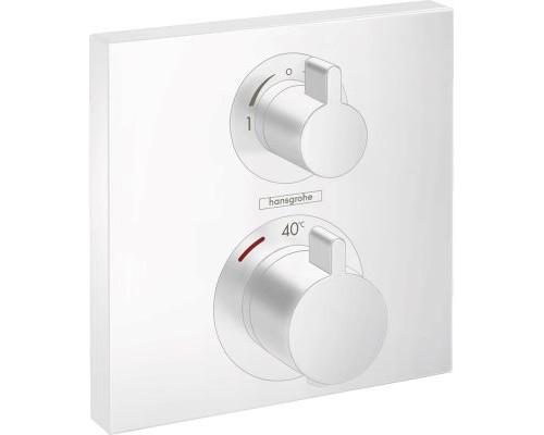 Термостат для ванны внешняя часть Hansgrohe Ecostat Square 15714700 белый