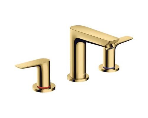 Смеситель для раковины Hansgrohe Talis E 71733990 на 3 отверстия золото