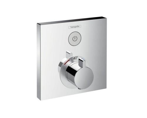 Термостат для душа внешняя часть с запорным клапаном Hansgrohe ShowerSelect 15762000