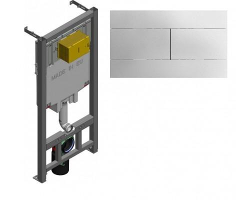 Инсталляция Jacob Delafon E29025-NF с кнопкой смыва E4316-CP хром
