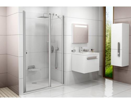 Душевая дверь  RAVAK Chrome CSD2-100 блестящий+транспарент