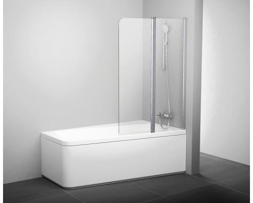 Шторка для ванны  RAVAK 10°  10CVS2-100 L блестящая+транспарент