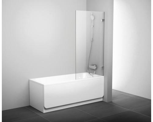 Шторка для ванны  RAVAK Briliant BVS1-80 хром+транспарент