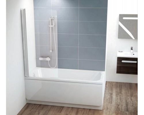 Шторка для ванны  RAVAK Chrome CVS1-80 L  белый+транспарент