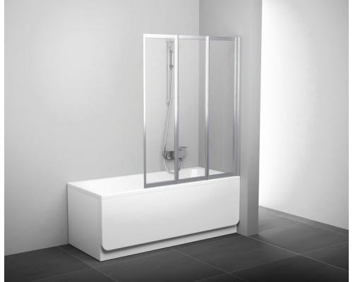 Шторка для ванны  RAVAK Supernova VS3 130 сатин+транспарент