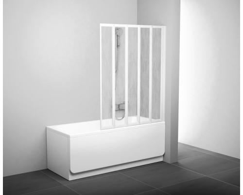 Шторка для ванны  RAVAK Supernova VS5 белый+рейн