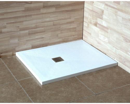 Душевой поддон из иcкусcтвенного камня RGW ST 14152816-01 800x1600x25 белый