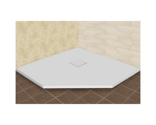 Душевой поддон из иcкусcтвенного камня RGW ST 16155099-01 900x900x25 белый, с крышкой в цвет поддона