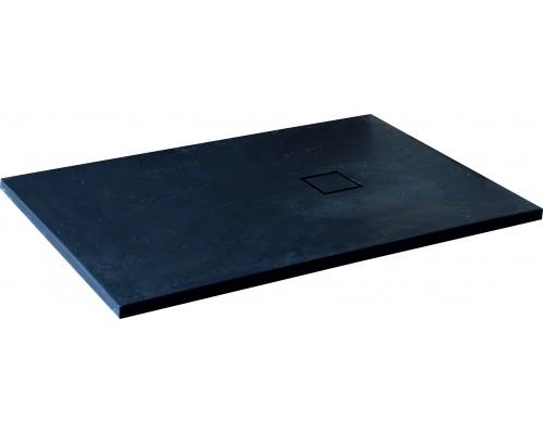 Душевой поддон из иcкусcтвенного камня RGW ST 16152012-02 1000x1200x25 серый, с крышкой в цвет поддона