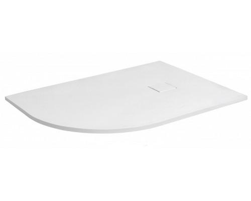 Душевой поддон из иcкусcтвенного камня RGW ST 16154128-01R 800x1200x25 белый, с крышкой в цвет поддона правый