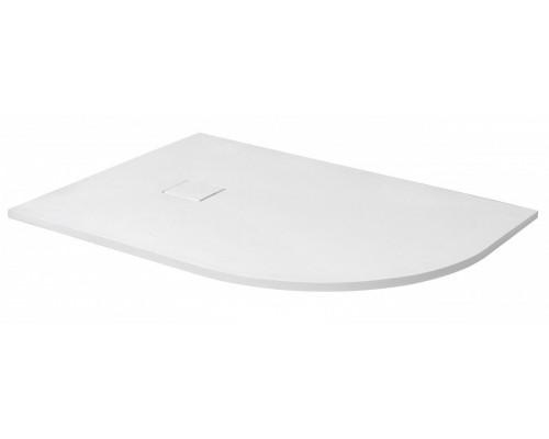 Душевой поддон из иcкусcтвенного камня RGW ST 16154128-01L 800x1200x25 белый, с крышкой в цвет поддона левый