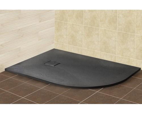 Душевой поддон из иcкусcтвенного камня RGW ST 16154128-02L 800x1200x25 серый, с крышкой в цвет поддона левый