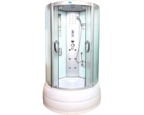 Душевая кабина Водный Мир (100*100*215) высокий поддон, задние стекла белые, передние стекла матовые ВМ-8815 (100)