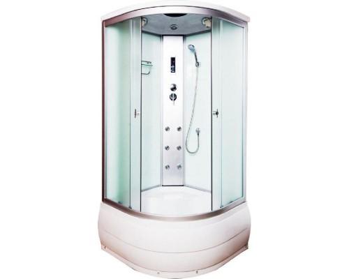 Душевая кабина Водный Мир (100*100*215) высокий поддон, задние стекла белые, передние стекла белые рифлёные ВМ-888Е (100)