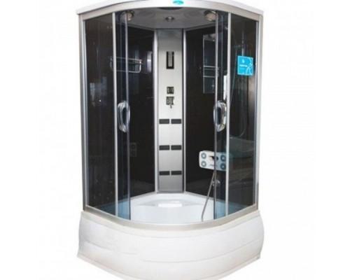 Душевая кабина Водный Мир (100*100*215) высокий поддон, задние стекла черные, передние стекла тонированные ВМ-8334 (100)