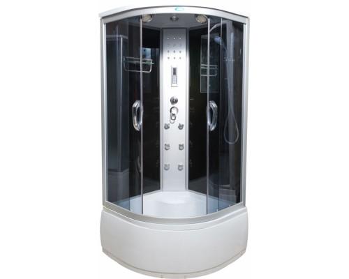 Душевая кабина Водный Мир (100*100*215) высокий поддон, задние стекла черные, передние стекла тонированные ВМ-8808 (100)