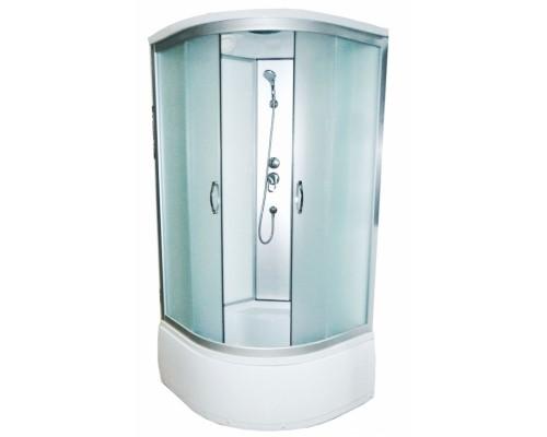 Душевая кабина Водный Мир (100*100*215) высокий поддон, задние стекла белые, передние стекла матовые ВМ-8811Е (100)