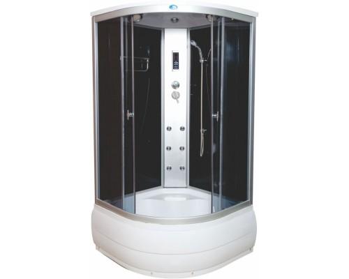 Душевая кабина Водный Мир (100*100*215) высокий поддон, задние стекла черные, передние стекла рованные ВМ-888Е (100)