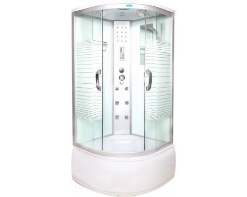 Душевая кабина Водный Мир (100*100*215) высокий поддон, задние стекла белые, передние стекла матовые ВМ-8808 (100)