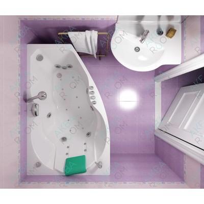 Акриловая ванна Triton Бриз 150х95х67, левая с каркасом