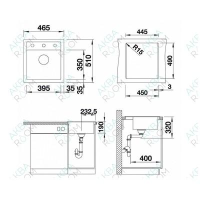 Мойка кухонная Blanco Dalago 45 жемчужный 520543