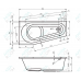 Акриловая ванна Riho Delta 160 L без гидромассажа