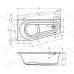 Акриловая ванна Riho Delta 160 R без гидромассажа