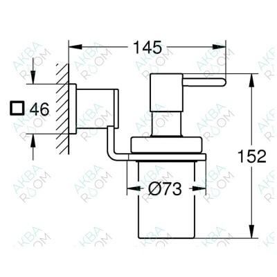 Дозатор для жидкого мыла Grohe Allure 40363000