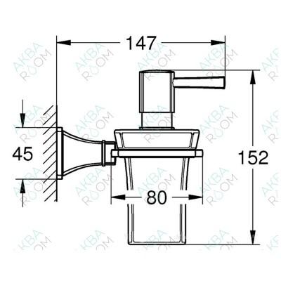 Дозатор для жидкого мыла Grohe Grandera 40627000