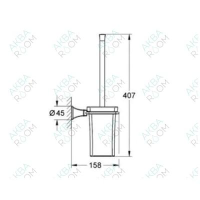 Ершик для туалета Grohe Grandera 40632IG0