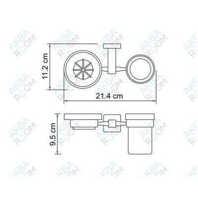 Держатель для стакана и мыльницы WasserKRAFT Lippe K-6526