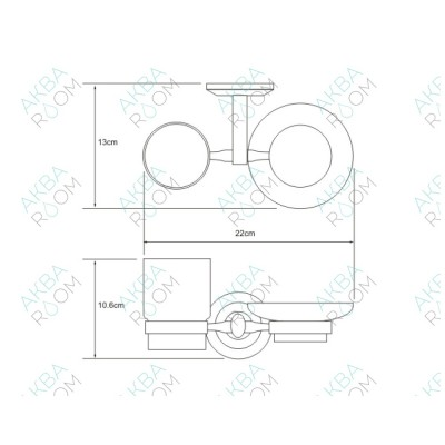Держатель для стакана и мыльницы WasserKRAFT Rhein K-6226