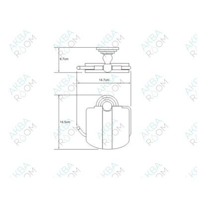 Бумагодержатель WasserKRAFT Ammer K-7025