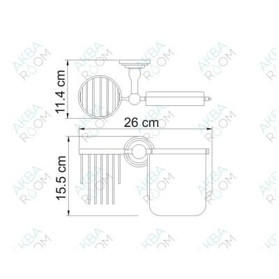 Бумагодержатель WasserKRAFT Ammer K-7059