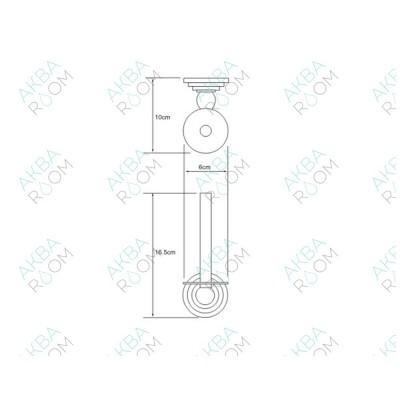Бумагодержатель WasserKRAFT Ammer K-7097