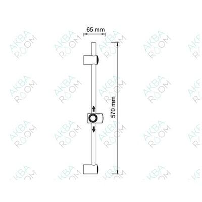 Душевая штанга WasserKRAFT A012