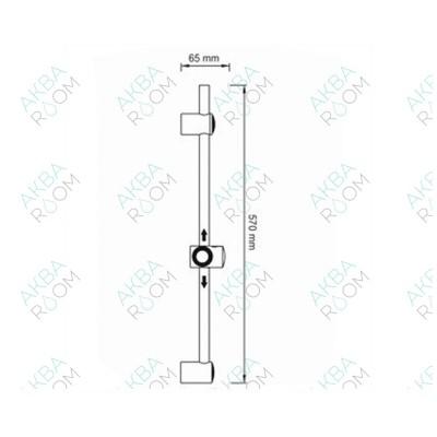 Душевая штанга WasserKRAFT A049