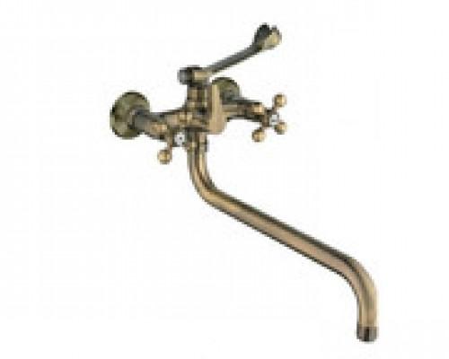 Cмеситель для ванны Haiba HB2619-4 длинный излив