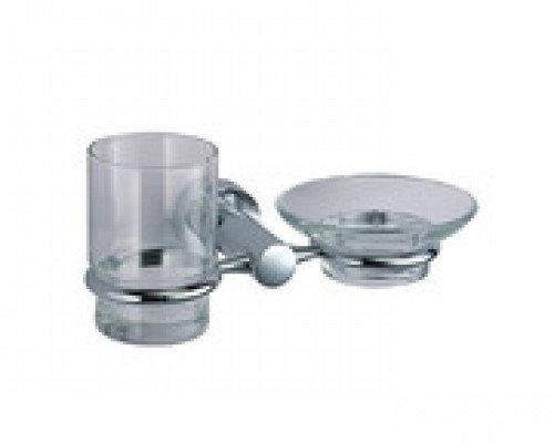 Держатель для стакана и мыльницы WasserKRAFT Donau K-9426